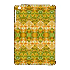 Boho Stylized Floral Stripes Apple Ipad Mini Hardshell Case (compatible With Smart Cover) by dflcprints