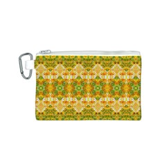 Boho Stylized Floral Stripes Canvas Cosmetic Bag (S) by dflcprints