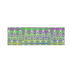 Colorful Zigzag Pattern Satin Scarf (oblong) by BrightVibesDesign