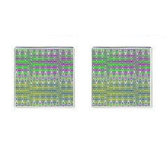 Colorful Zigzag Pattern Cufflinks (square) by BrightVibesDesign