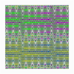 Colorful Zigzag Pattern Medium Glasses Cloth (2 Side) by BrightVibesDesign