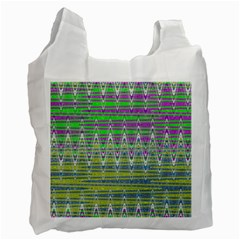 Colorful Zigzag Pattern Recycle Bag (One Side) by BrightVibesDesign