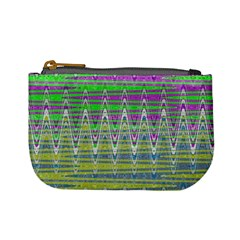 Colorful Zigzag Pattern Mini Coin Purses by BrightVibesDesign