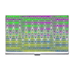 Colorful Zigzag Pattern Business Card Holders by BrightVibesDesign