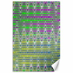 Colorful Zigzag Pattern Canvas 24  X 36  by BrightVibesDesign