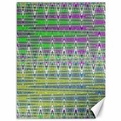 Colorful Zigzag Pattern Canvas 36  X 48   by BrightVibesDesign