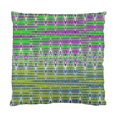 Colorful Zigzag Pattern Standard Cushion Case (two Sides) by BrightVibesDesign