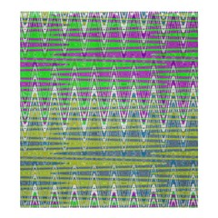 Colorful Zigzag Pattern Shower Curtain 66  X 72  (large)  by BrightVibesDesign