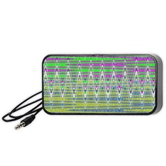 Colorful Zigzag Pattern Portable Speaker (black)  by BrightVibesDesign