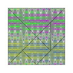 Colorful Zigzag Pattern Acrylic Tangram Puzzle (6  x 6 ) by BrightVibesDesign