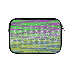 Colorful Zigzag Pattern Apple Ipad Mini Zipper Cases by BrightVibesDesign