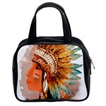 Native American Young Indian Shief Classic Handbags (2 Sides)