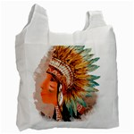 Native American Young Indian Shief Recycle Bag (Two Side)