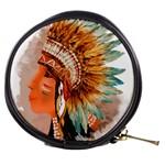 Native American Young Indian Shief Mini Makeup Bags