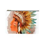 Native American Young Indian Shief Cosmetic Bag (Large)