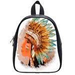 Native American Young Indian Shief School Bags (Small)