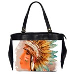 Native American Young Indian Shief Office Handbags (2 Sides)