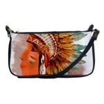 Native American Young Indian Shief Shoulder Clutch Bags