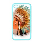 Native American Young Indian Shief Apple iPhone 4 Case (Color)