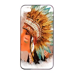 Native American Young Indian Shief Apple Iphone 4/4s Seamless Case (black) by TastefulDesigns