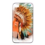 Native American Young Indian Shief Apple iPhone 4/4s Seamless Case (Black)