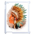 Native American Young Indian Shief Apple iPad 2 Case (White)