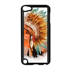 Native American Young Indian Shief Apple Ipod Touch 5 Case (black) by TastefulDesigns