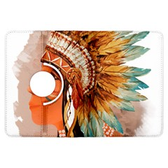 Native American Young Indian Shief Kindle Fire Hdx Flip 360 Case by TastefulDesigns