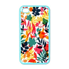Seamless Autumn Leaves Pattern  Apple Iphone 4 Case (color) by TastefulDesigns