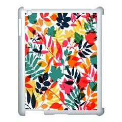 Seamless Autumn Leaves Pattern  Apple iPad 3/4 Case (White)