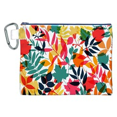 Seamless Autumn Leaves Pattern  Canvas Cosmetic Bag (xxl)  by TastefulDesigns