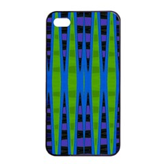 Blue Green Geometric Apple Iphone 4/4s Seamless Case (black) by BrightVibesDesign