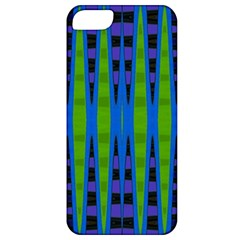 Blue Green Geometric Apple iPhone 5 Classic Hardshell Case by BrightVibesDesign