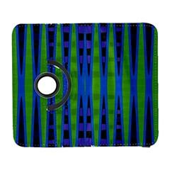 Blue Green Geometric Samsung Galaxy S  Iii Flip 360 Case by BrightVibesDesign