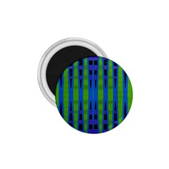 Blue Green Geometric 1.75  Magnets by BrightVibesDesign