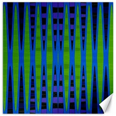 Blue Green Geometric Canvas 12  X 12   by BrightVibesDesign