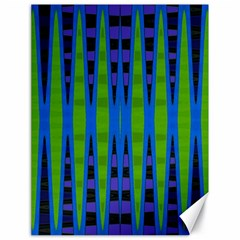 Blue Green Geometric Canvas 18  x 24   by BrightVibesDesign
