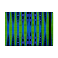 Blue Green Geometric iPad Mini 2 Flip Cases by BrightVibesDesign