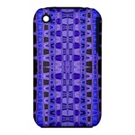 Blue Black Geometric Pattern Apple iPhone 3G/3GS Hardshell Case (PC+Silicone)