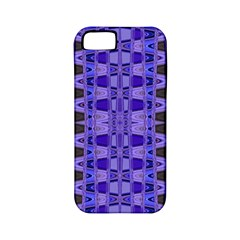 Blue Black Geometric Pattern Apple Iphone 5 Classic Hardshell Case (pc+silicone) by BrightVibesDesign