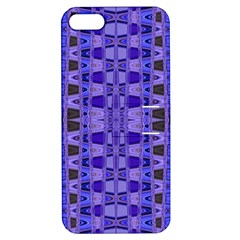 Blue Black Geometric Pattern Apple Iphone 5 Hardshell Case With Stand by BrightVibesDesign