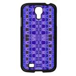 Blue Black Geometric Pattern Samsung Galaxy S4 I9500/ I9505 Case (Black)