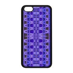Blue Black Geometric Pattern Apple Iphone 5c Seamless Case (black) by BrightVibesDesign