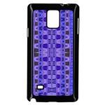 Blue Black Geometric Pattern Samsung Galaxy Note 4 Case (Black)
