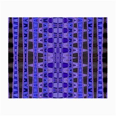 Blue Black Geometric Pattern Small Glasses Cloth (2-Side) by BrightVibesDesign