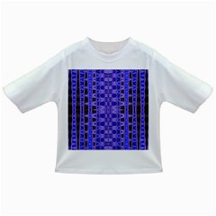 Blue Black Geometric Pattern Infant/Toddler T-Shirts by BrightVibesDesign