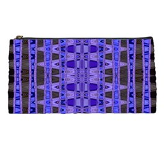Blue Black Geometric Pattern Pencil Cases by BrightVibesDesign