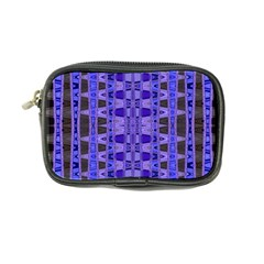 Blue Black Geometric Pattern Coin Purse by BrightVibesDesign
