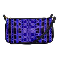 Blue Black Geometric Pattern Shoulder Clutch Bags by BrightVibesDesign