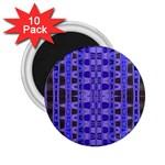 Blue Black Geometric Pattern 2.25  Magnets (10 pack)
